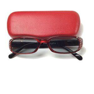 Evolution Eyes Reading Sun Rectangular Glasses Red